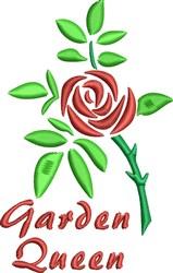 Garden Queen embroidery design