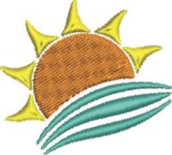 Sun and Sea embroidery design