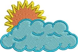 Sun In Cloud embroidery design