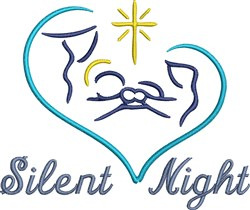 Baby Jesus Silent Night embroidery design