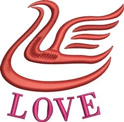 Love Dove embroidery design