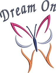 Dream On Butterfly embroidery design