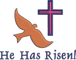 He Has Risen! embroidery design