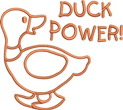 Duck Power Outline embroidery design