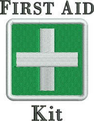 First Aid Kit embroidery design