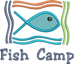 Fish Camp embroidery design