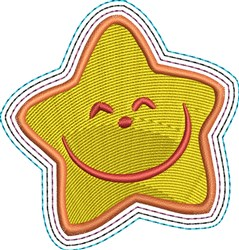 Happy Star embroidery design