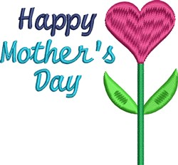 Happy Mothers Day Plant embroidery design