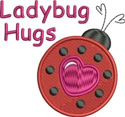 Ladybug Hugs embroidery design