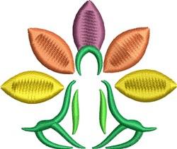 Meditation Flower embroidery design