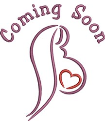 Coming Soon Outline embroidery design