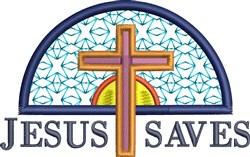 Jesus Saves embroidery design