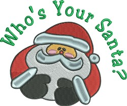 Whos Your Santa? embroidery design
