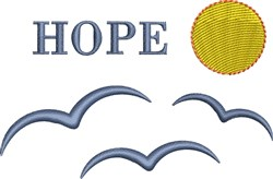 Hope Seabirds Silhouette embroidery design