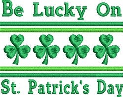 Lucky St. Patrick's Day embroidery design