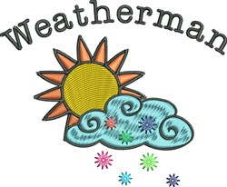 Snowy Weatherman embroidery design