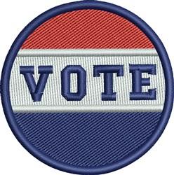 Vote Button embroidery design