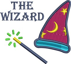 Wizard Hat embroidery design