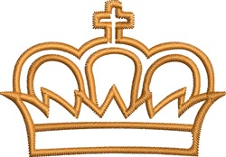 Crown Outline embroidery design