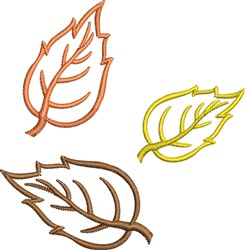 Fall Leaves Outline embroidery design