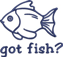 Fish Outline embroidery design