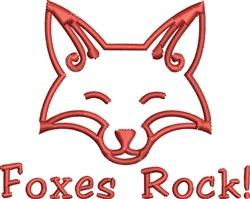 Fox Head Outline embroidery design