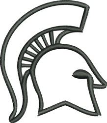 Spartan Head Outline embroidery design