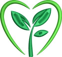 Go Green Heart embroidery design