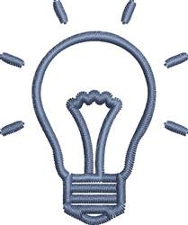 Light Bulb Outline embroidery design