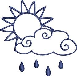 Rain Cloud Outline embroidery design