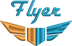 Flyer embroidery design