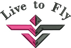 Live To Fly embroidery design