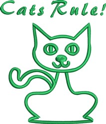 Cats Rule! embroidery design