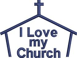 Love My Church embroidery design