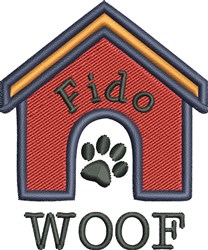 Dog House 4 embroidery design