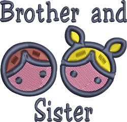 Brother And Sister embroidery design