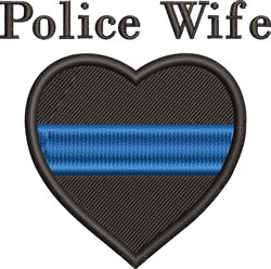 Police Wife embroidery design