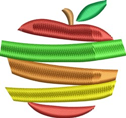 Sliced Apple embroidery design