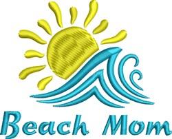 Beach Mom embroidery design