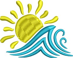 Sun and Wave embroidery design