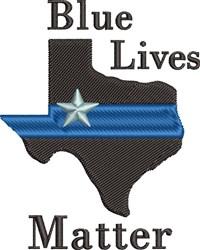Blue Lives Matter embroidery design