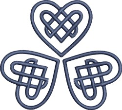 Celtic Knot Hearts embroidery design