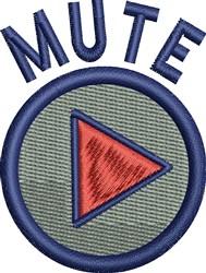 Mute Button embroidery design