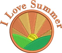 Love Summer embroidery design