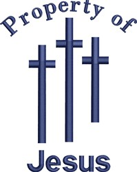 Property Of Jesus embroidery design