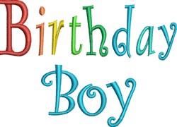 Happy Birthday Boy embroidery design