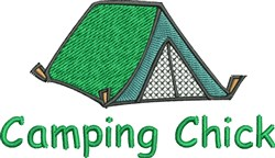 Camping Chick embroidery design