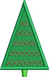 Merry Christmas Tree embroidery design