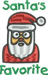 Cool Cartoon Santa embroidery design