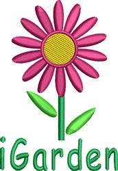 Purple Spring Daisy embroidery design